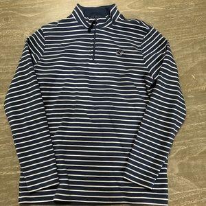 Vineyard Vines boys striped pullover half zip